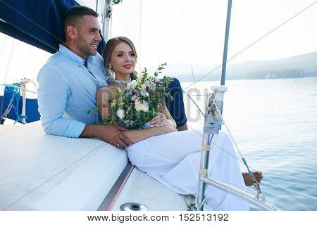 Voyage on yacht