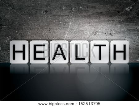 Health Tiled Letters Concept And Theme