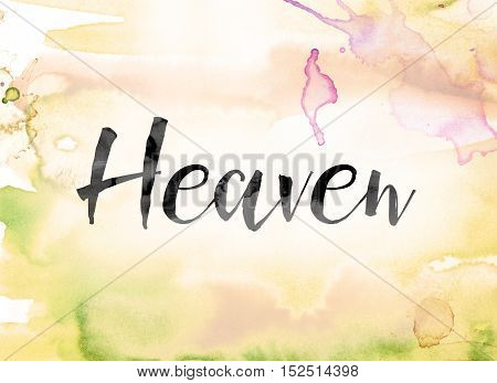 Heaven Colorful Watercolor And Ink Word Art