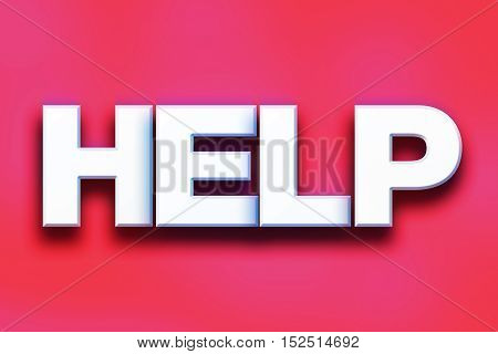 Help Concept Colorful Word Art