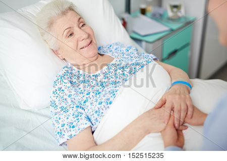 Grandmother in hospital