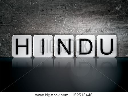 Hindu Tiled Letters Concept And Theme