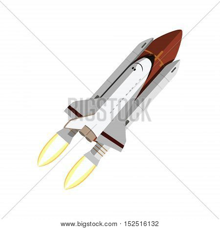 The shuttle isolated on white background. Vector