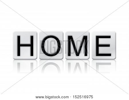 Home Isolated Tiled Letters Concept And Theme