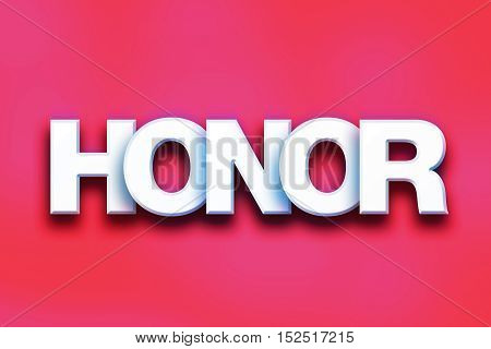 Honor Concept Colorful Word Art