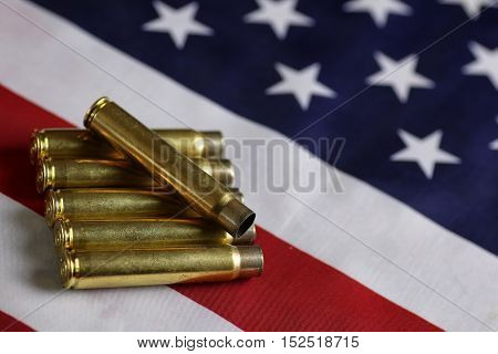 concept of global crime machine cartridges on the background