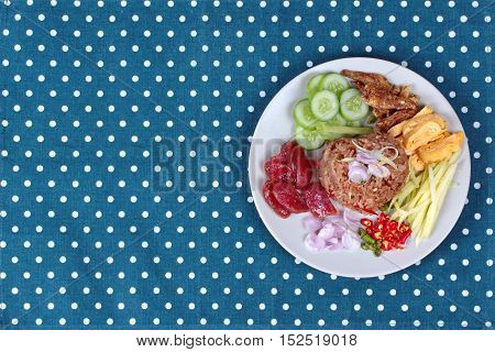 Fried rice with shrimp paste call