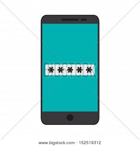 smartphone security device isolated icon vector illustration design