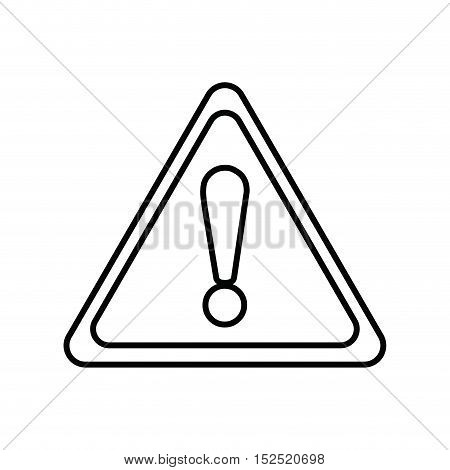 triangle alert symbol isolated icon vector illustration design