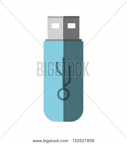 usb memory storage isolated icon vector illustration design