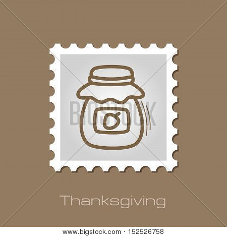 Jam jar stamp. Harvest. Thanksgiving vector illustration eps 10