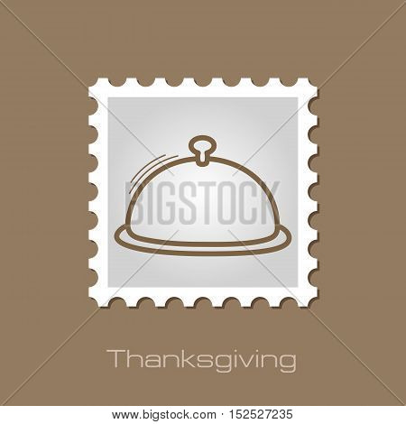 Food tray stamp. Harvest. Thanksgiving vector illustration eps 10