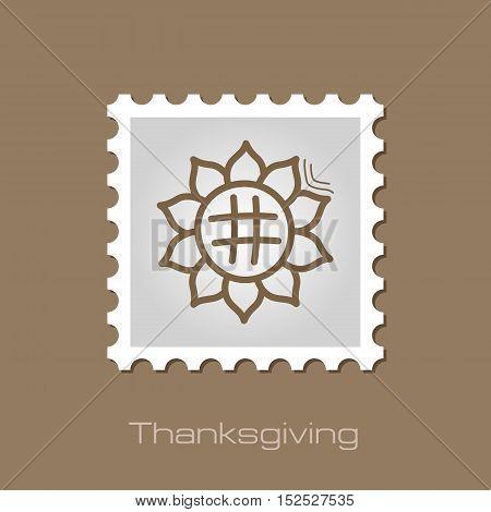 Sunflower stamp. Harvest. Thanksgiving vector illustration eps 10