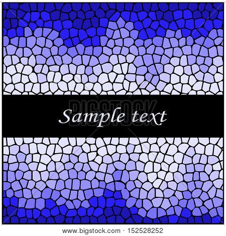 Vector blue mosaic - abstract original background