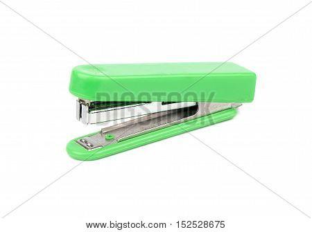 Green Stapler Isolate