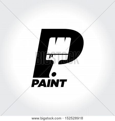 Creative initial P represent Paint. Home Painting Service Symbol