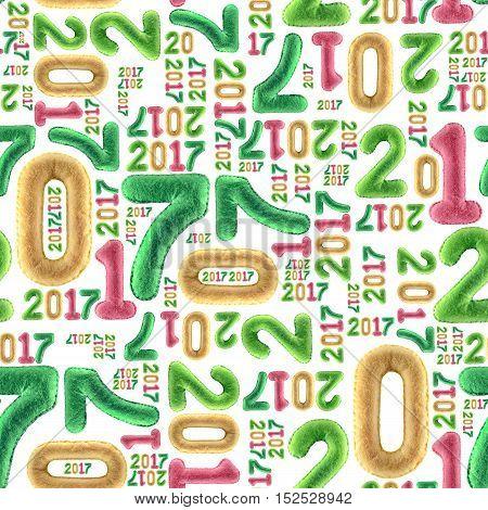 New Year Seamless Pattern