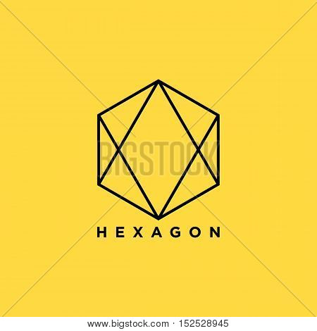 Simple Hexagon symbol illustration for your business