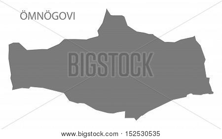 Omnogovi Mongolia Map grey illustration high res