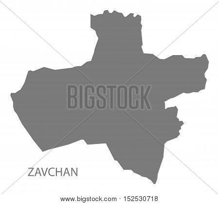Zavchan Mongolia Map grey illustration high res