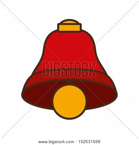 merry christmas bell isolated icon vector illustration design