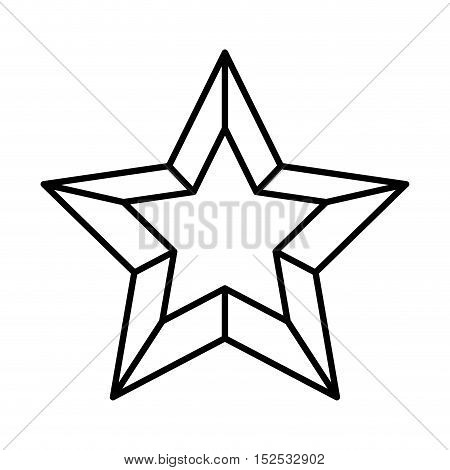 merry christmas star isolated icon vector illustration design
