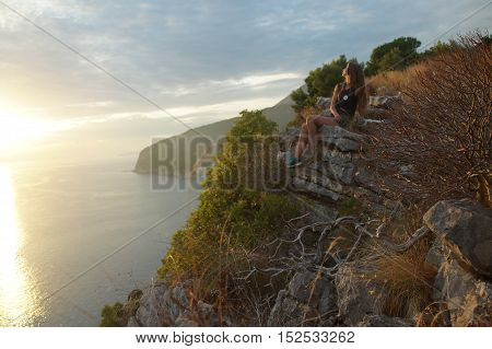 Proximity To The Sky And Nature,girl In The Sunset, Thoughts