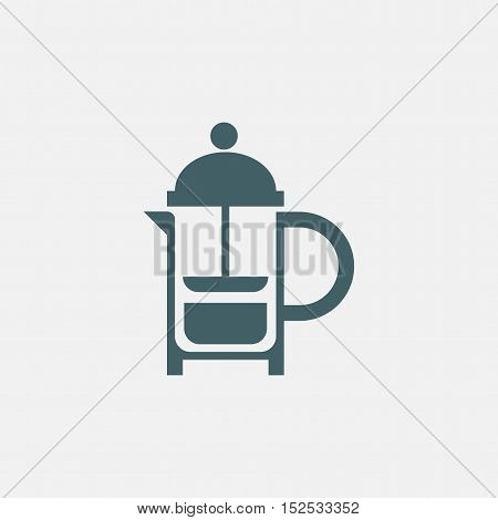 teapot icon. french press simple icon isolated on white background