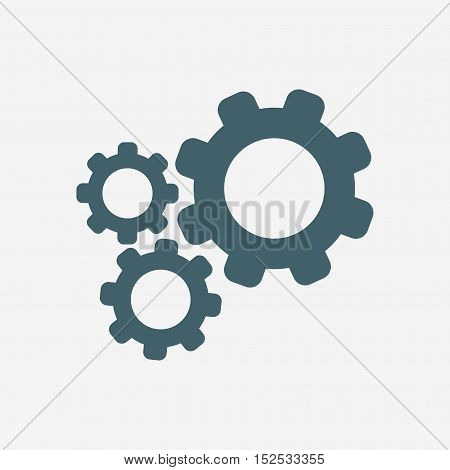 settings icon. gear icon isolated on white background