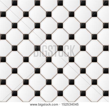 Illustration of floor tile design background concept