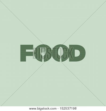 Clever Typography Food Logo. Food and Beverage Themed Vector illustration