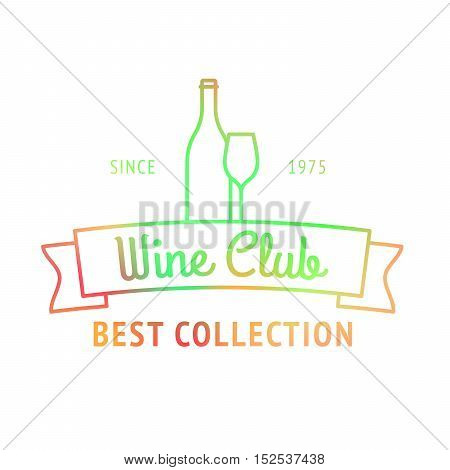 Wine club, best collection colorful logo vctor illustration
