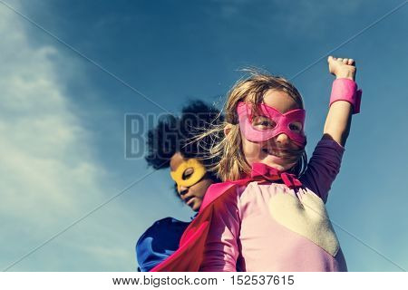 Children Childhood Super Hero Concept