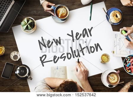 New Year Resolution News Concept
