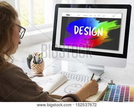 Design rainbow Paint Strokes Concept