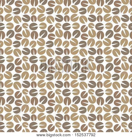 Coffee beans seamless pattern background. Vector illustration
