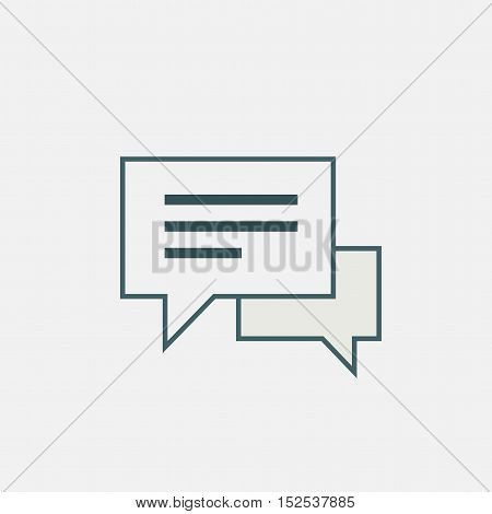 speech or comment bubbles isolated on white background