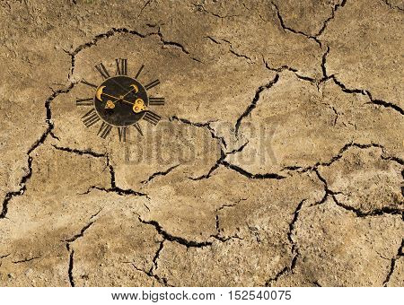 Big cracks on the earth ground texture.