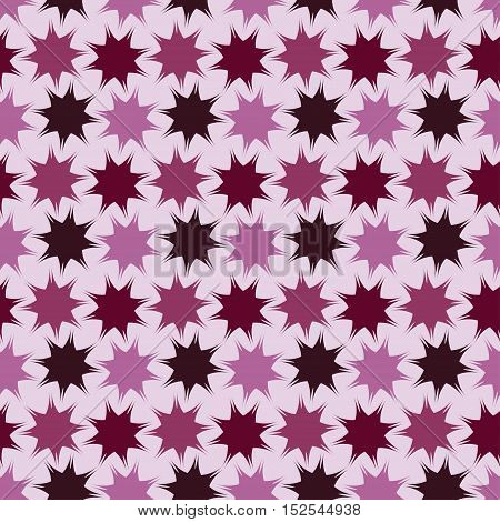 Seamless background pattern with repeating stars ornament isolated on the light background. Vector eps illustration