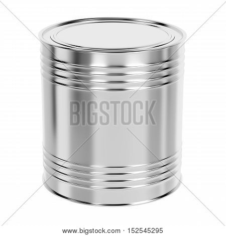 Tin can for paint or other liquids isolated on white background, 3D illustration