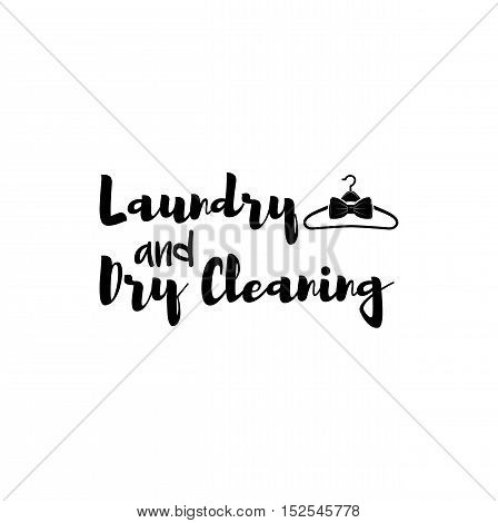 Laundry and Dry Cleaning. Clothes Hanger isolated on white background.