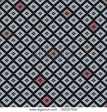 Seamless Pattern. Japanese Kogin Embroidery.