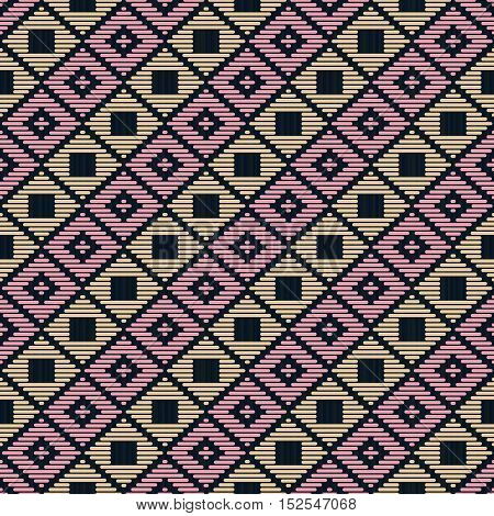 Abstract Pattern. Japanese Kogin Embroidery.