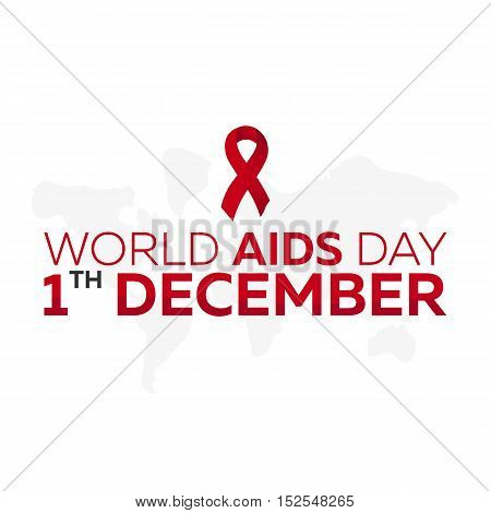 World Aids Day 1 Desember. Aids Awareness. Vector Illustration.