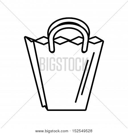 shopping bag market isolated icon vector illustration design