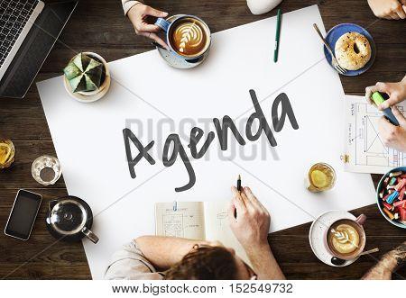 Agenda Calendar Planner Urgent Concept