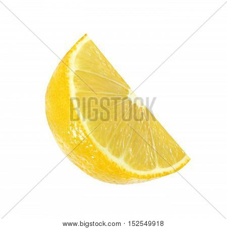 cut lemon fruits isolated on white background with clipping path