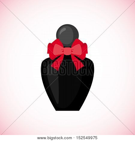 Perfume icon in flat style isolated on white background. Vector illustration.
