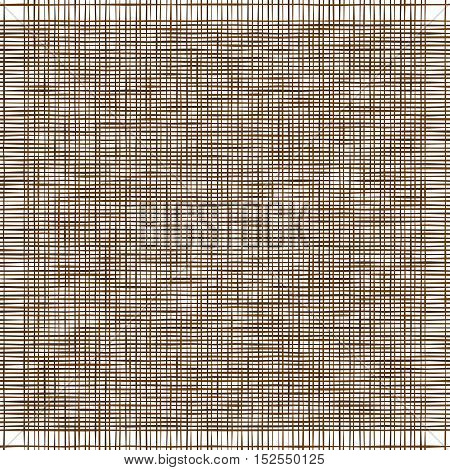 Dark brown canvas. Imitation of natural fabric. Vector Illustration