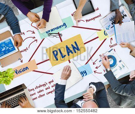 Plan Marketing Branding Strategy Concept